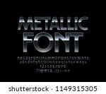 vector metallic font. elegant... | Shutterstock .eps vector #1149315305