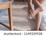 injured woman with pain from... | Shutterstock . vector #1149329528