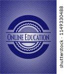 online education badge with... | Shutterstock .eps vector #1149330488