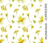 yellow wild plants seamless... | Shutterstock . vector #1149331592