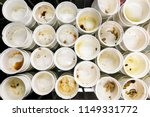 heap of dirty cutlery to be... | Shutterstock . vector #1149331772