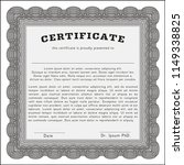 grey certificate of achievement ... | Shutterstock .eps vector #1149338825