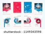 set of design of brochure ... | Shutterstock .eps vector #1149343598
