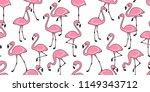 flamingo seamless pattern... | Shutterstock .eps vector #1149343712