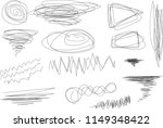 vector light set of hand drawn... | Shutterstock .eps vector #1149348422