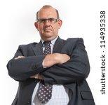 imposing man in business attire ... | Shutterstock . vector #114935338