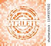 athlete abstract emblem  orange ...   Shutterstock .eps vector #1149357032