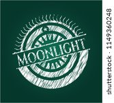 moonlight chalkboard emblem...   Shutterstock .eps vector #1149360248