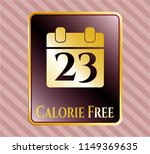 shiny badge with calendar icon ... | Shutterstock .eps vector #1149369635