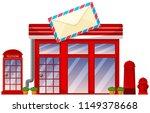 Postoffice Shop On White...