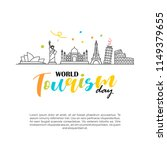world tourism day logo vector... | Shutterstock .eps vector #1149379655