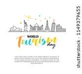 world tourism day logo vector... | Shutterstock .eps vector #1149379655
