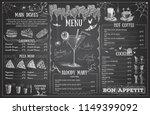 vintage chalk drawing halloween ...   Shutterstock .eps vector #1149399092