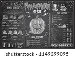 vintage chalk drawing halloween ... | Shutterstock .eps vector #1149399095