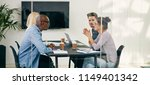 group of diverse young... | Shutterstock . vector #1149401342