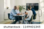 diverse group of young work... | Shutterstock . vector #1149401345