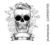 angry skull with hairstyle | Shutterstock .eps vector #1149404705