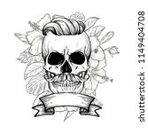 angry skull with hairstyle | Shutterstock .eps vector #1149404708