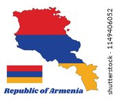 Map Outline And Flag Of Armenia ...