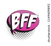 abbreviation bff  best friends... | Shutterstock .eps vector #1149409892