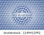 free membership blue emblem or... | Shutterstock .eps vector #1149411992