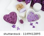 spa towel and massage products... | Shutterstock . vector #1149412895