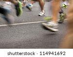 runners running in city...   Shutterstock . vector #114941692