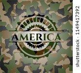 america written on a camouflage ... | Shutterstock .eps vector #1149417392