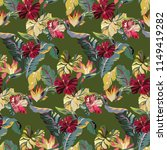 tropical vintage pattern with... | Shutterstock .eps vector #1149419282