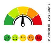 rating scale of customer... | Shutterstock .eps vector #1149428048
