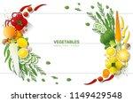 flat lay fresh vegetables on...   Shutterstock .eps vector #1149429548