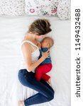 mother and toddler baby boy ...   Shutterstock . vector #1149432488