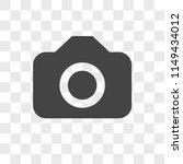 Camera vector icon on transparent background, Camera icon - stock vector