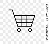 shopping cart vector icon on... | Shutterstock .eps vector #1149438545