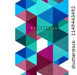 multicolored triangles abstract ... | Shutterstock .eps vector #1149443492