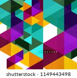 multicolored triangles abstract ... | Shutterstock .eps vector #1149443498
