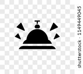 bell vector icon on transparent ...
