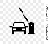 barrier and car vector icon on... | Shutterstock .eps vector #1149449648