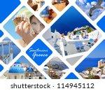 set of summer photos in... | Shutterstock . vector #114945112