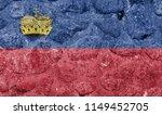liechtenstein flag on a stone... | Shutterstock . vector #1149452705