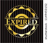 expired gold badge or emblem | Shutterstock .eps vector #1149453152