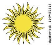 sun icon tribal as vector on a... | Shutterstock .eps vector #1149453815