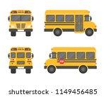 school bus isolated on white... | Shutterstock .eps vector #1149456485