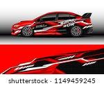 car wrap design vector  truck... | Shutterstock .eps vector #1149459245