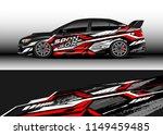 car wrap design vector  truck... | Shutterstock .eps vector #1149459485