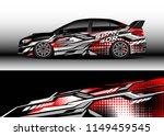 car wrap design vector  truck... | Shutterstock .eps vector #1149459545