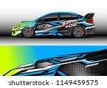 car wrap design vector  truck... | Shutterstock .eps vector #1149459575