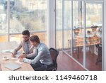 young business people in the... | Shutterstock . vector #1149460718