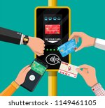 hands with transport card ... | Shutterstock .eps vector #1149461105