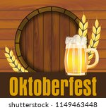 beer festival oktoberfest in... | Shutterstock .eps vector #1149463448